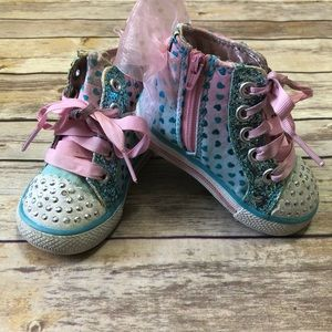 Toddler Skechers Twinkle Toes Hi-Top Shoes Sz 5